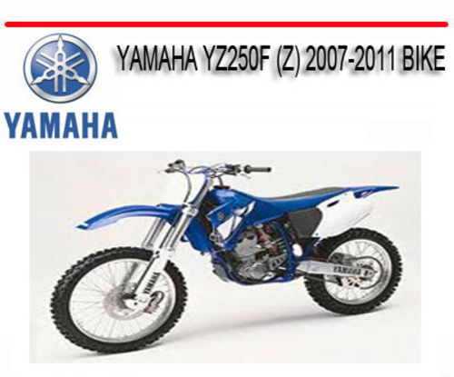 2007 yz250f free service manual download