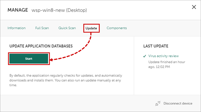 how to download kaspersky update file manually