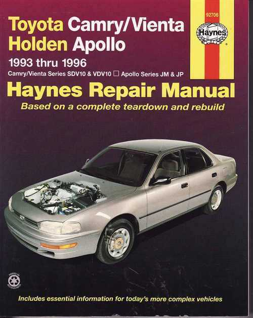 1992 toyota camry v6 service manual free download