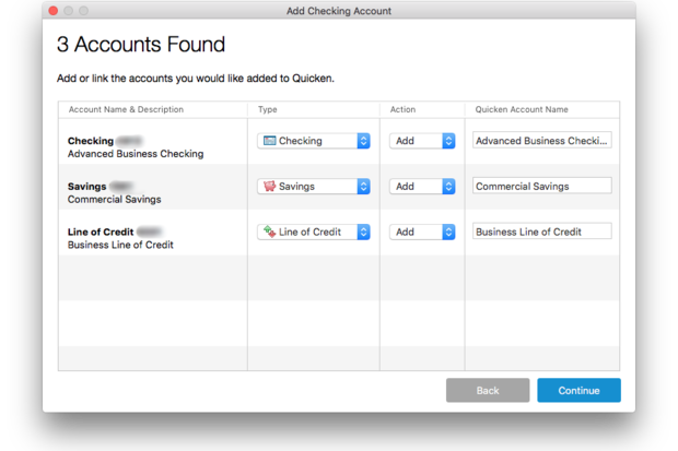 quicken 2016 link manual entry and automatic download